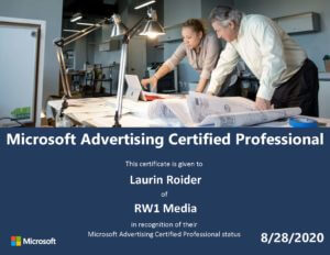 Microsoft Advertising Certified Professional Laurin Roider